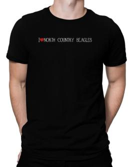 I love North Country Beagles cool style Men T-Shirt