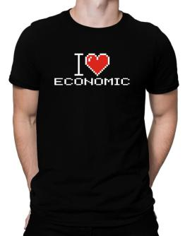 I love Economic pixelated Men T-Shirt