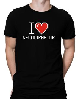 Polo de I love Velociraptor pixelated