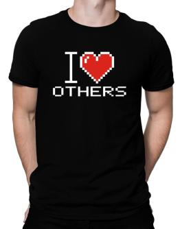 I love Others pixelated Men T-Shirt