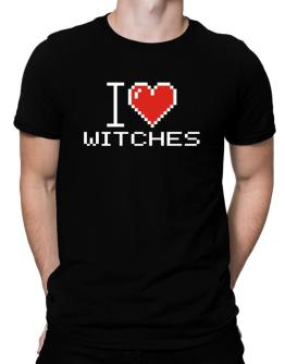 I love Witches pixelated Men T-Shirt