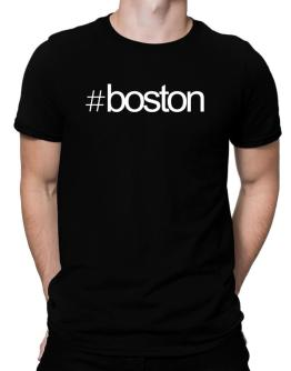 Hashtag Boston Men T-Shirt