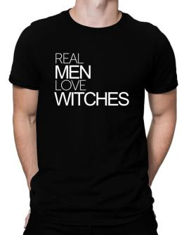 Real men love Witches Men T-Shirt