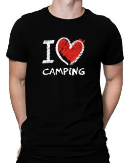 I love Camping chalk style Men T-Shirt