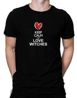 Keep calm and love Witches chalk style Men T-Shirt