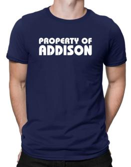 """ Property of Addison "" Men T-Shirt"