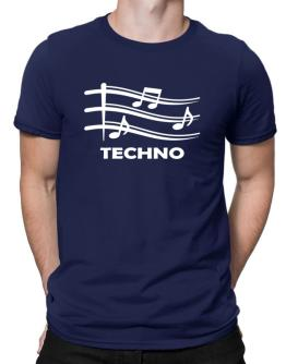Techno - Musical Notes Men T-Shirt