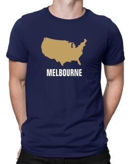 Melbourne - Usa Map Men T-Shirt