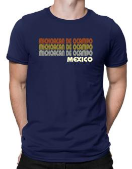 Retro Color Michoacan De Ocampo Men T-Shirt