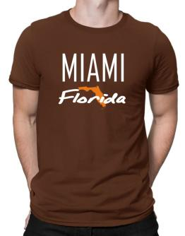 """ Miami - State Map "" Men T-Shirt"