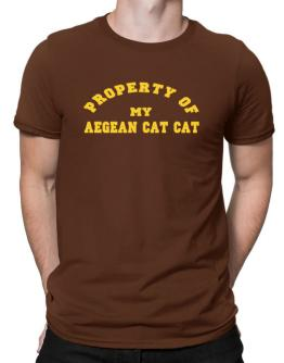 Property Of My Aegean Cat Men T-Shirt