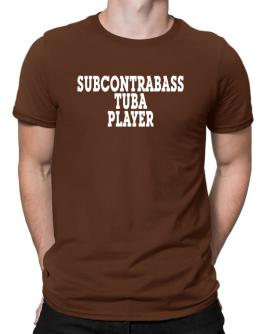 Subcontrabass Tuba Player - Simple Men T-Shirt