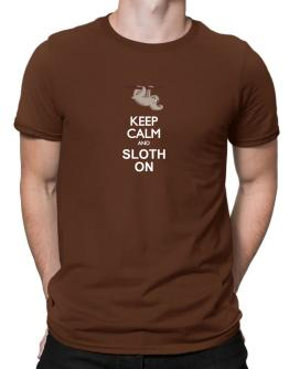 Polo de Keep calm and sloth on