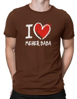 I love Meher Baba chalk style Men T-Shirt