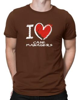 I love Case Managers chalk style Men T-Shirt