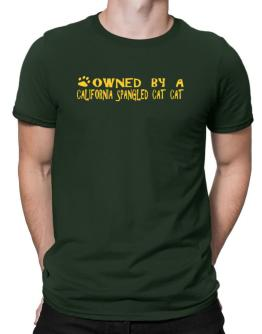 Owned By A California Spangled Cat Men T-Shirt