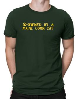 Owned By A Maine Coon Men T-Shirt