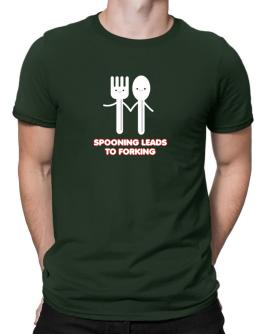 Spooning leads to forking Men T-Shirt