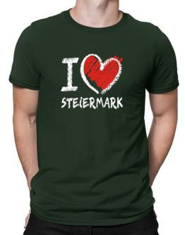 I love Steiermark chalk style Men T-Shirt