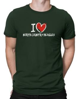 I love North Country Beagles chalk style Men T-Shirt
