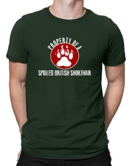 Property of a spoiled British Shorthair Men T-Shirt