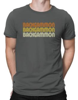 Backgammon Retro Color Men T-Shirt