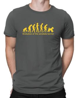 Evolution Of The Airedale Terrier Men T-Shirt