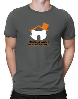 Home Is Where Maine Coon Is Men T-Shirt