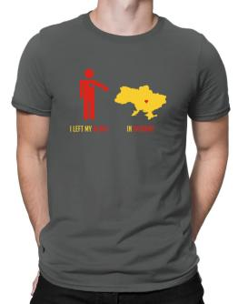 I Left My Heart In Ukraine - Map Men T-Shirt