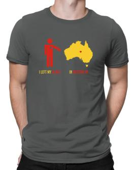 I Left My Heart In Australia - Map Men T-Shirt