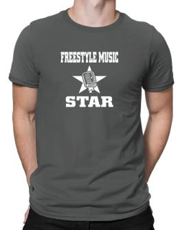 Freestyle Music Star - Microphone Men T-Shirt