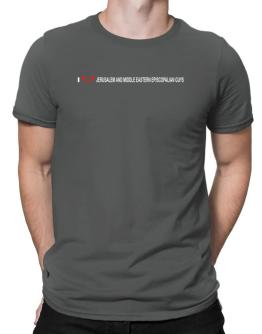 I Love Jerusalem And Middle Eastern Episcopalian Guys Men T-Shirt