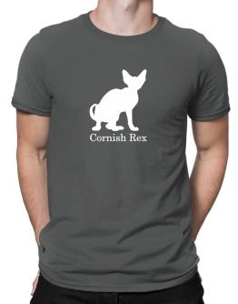 Cornish Rex silhouette Men T-Shirt