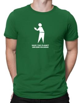 Save The Planet Learn Quebec Sign Language Men T-Shirt