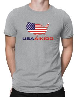 Usa Aikido / Map Men T-Shirt