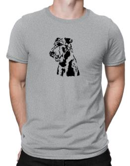 Airedale Terrier Face Special Graphic Men T-Shirt
