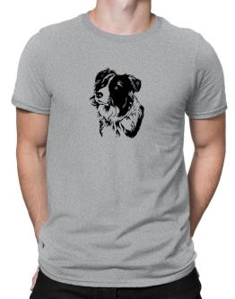 Polo de Border Collie Face Special Graphic