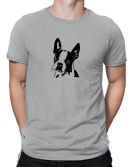 Boston Terrier Face Special Graphic Men T-Shirt