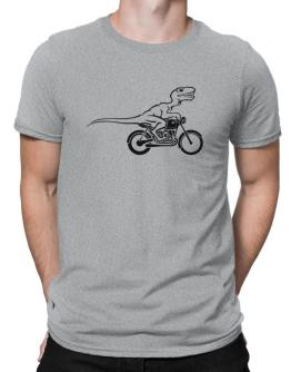 Polo de Velociraptor riding bike