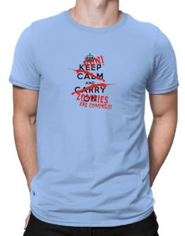 Zombies are coming Men T-Shirt