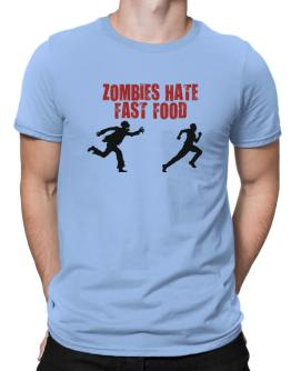 Zombies Hate Fast Food Men T-Shirt