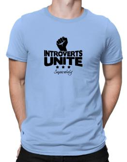 Introverts Unite Separately Men T-Shirt