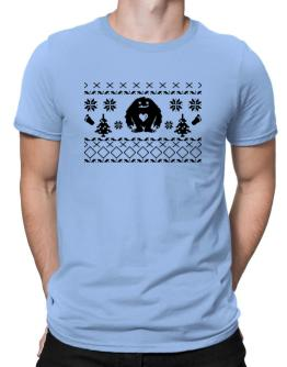 Happy Yeti design Men T-Shirt