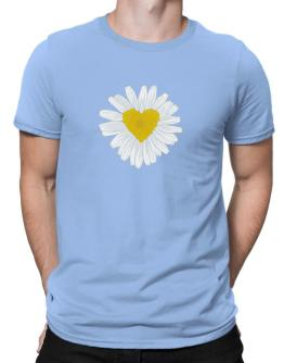 Polo de Daisy flower heart