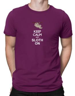 Keep calm and sloth on Men T-Shirt
