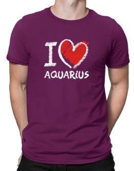 I love Aquarius chalk style Men T-Shirt