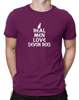 Real men love Devon Rexs Men T-Shirt