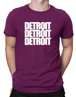 Detroit three words Men T-Shirt