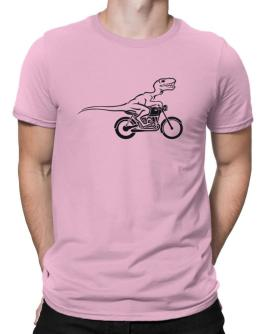 Velociraptor riding bike Men T-Shirt