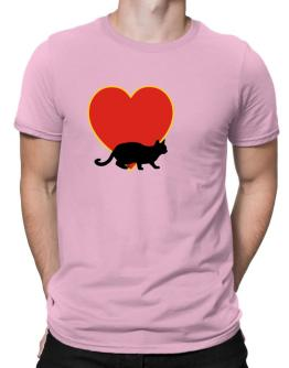 Egyptian Mau heart love Men T-Shirt